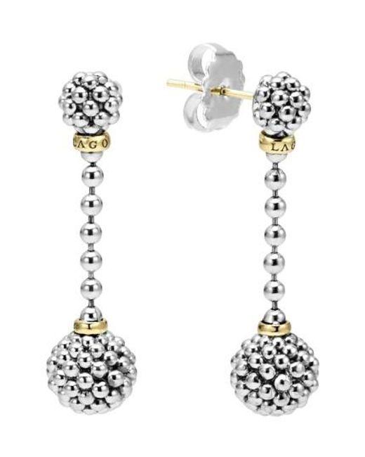 Lagos | Metallic Caviar Lattice Ball Drop Earrings | Lyst