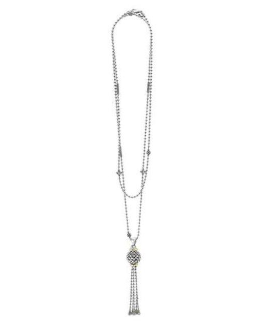 Lagos   Metallic 'caviar Forever' Tassel Pendant Necklace   Lyst