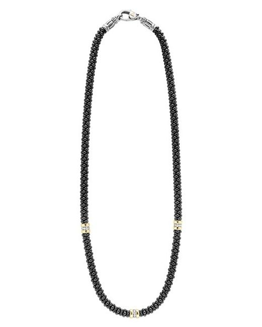 Lagos | 'black Caviar' Station Necklace | Lyst