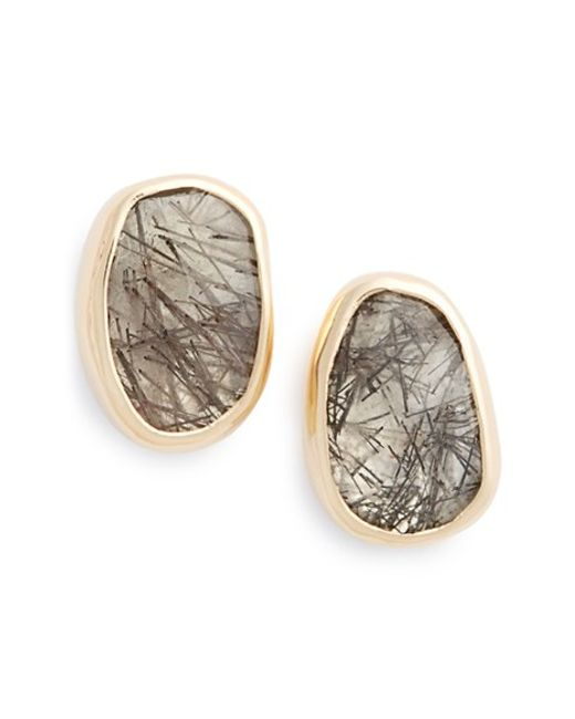 Melissa Joy Manning | Gray Semiprecious Stone Earrings | Lyst