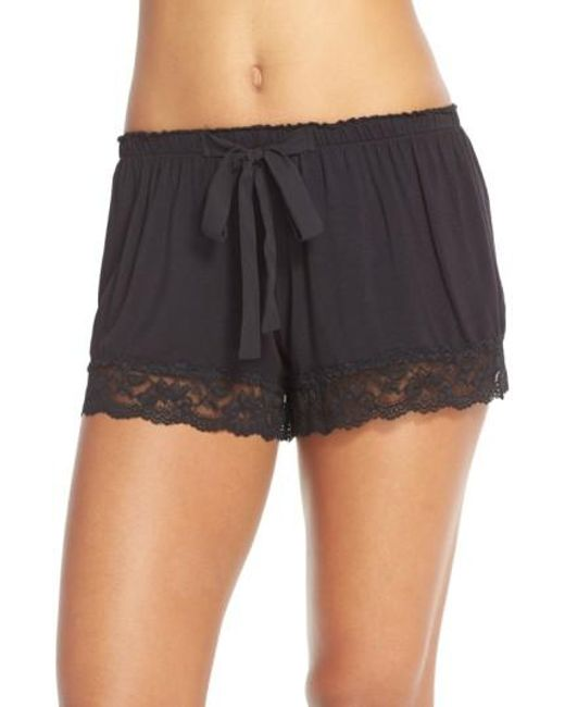 Flora Nikrooz   Black Snuggle Lounge Shorts   Lyst
