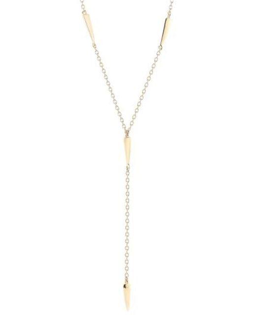 Elizabeth and James | Metallic 'miro' Y-necklace | Lyst