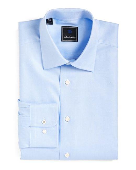 David Donahue   Blue Regular Fit Oxford Dress Shirt for Men   Lyst