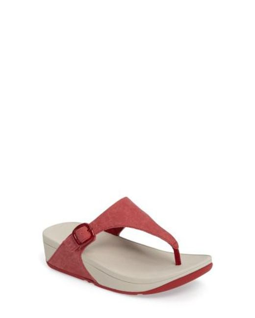 Fitflop | Red (tm) 'the Skinny' Flip Flop | Lyst