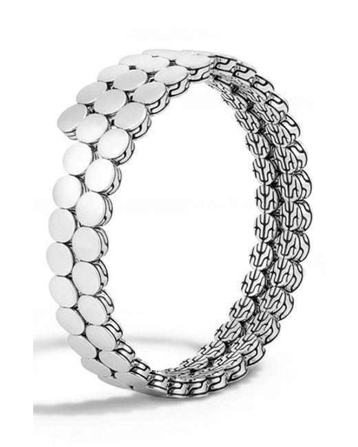 John Hardy | Metallic 'dot' Double Coil Bracelet | Lyst