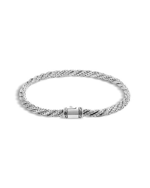 John Hardy | Metallic 'classic Chain' Slim Flat Twisted Bracelet | Lyst