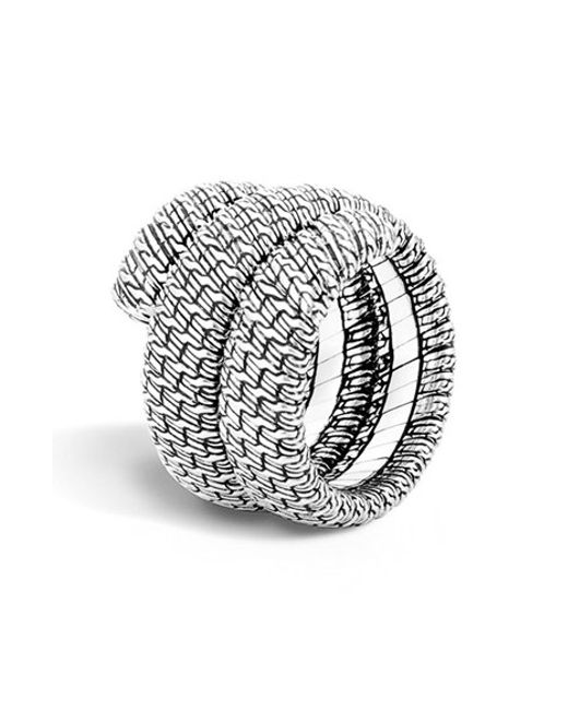 John Hardy | Metallic 'classic Chain' Double Coil Ring | Lyst