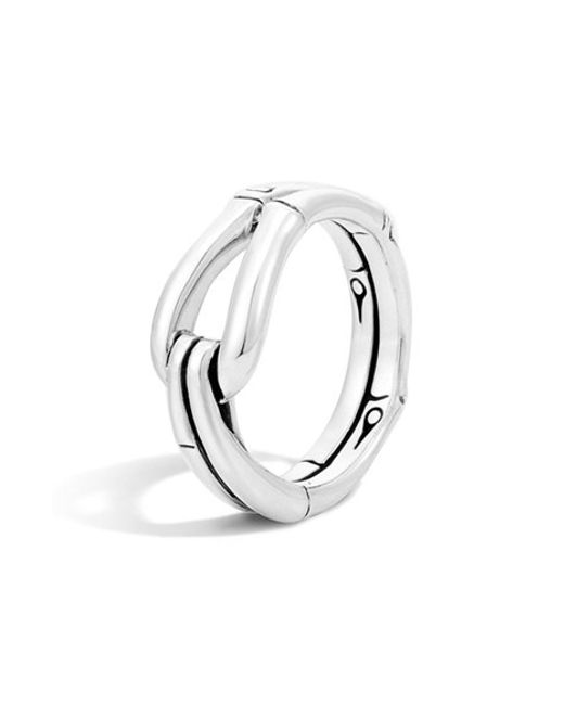 John Hardy | Metallic 'bamboo' Hook Ring | Lyst