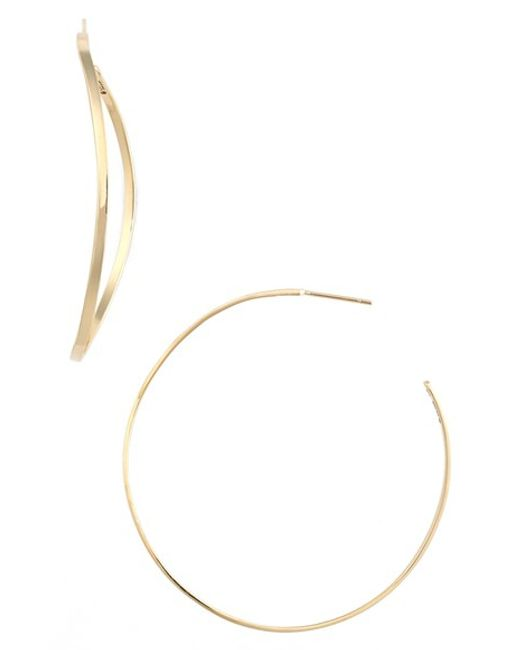 Lana Jewelry | Yellow 'wave' Small Hoop Earrings | Lyst