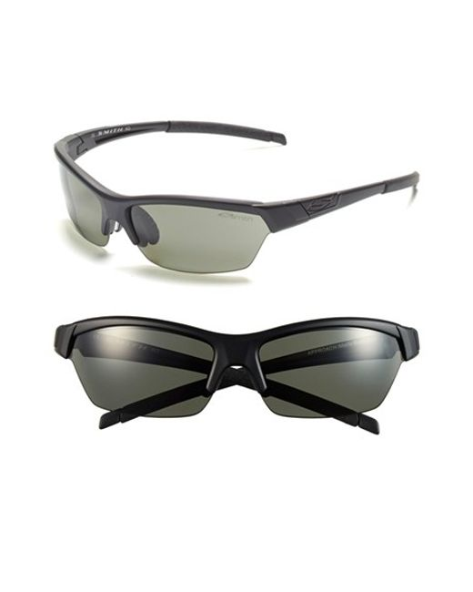 Smith Optics | Black 'approach' 62mm Interchangeable Lens Sunglasses | Lyst