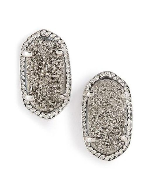 Kendra Scott | Metallic Ellie Oval Stone Stud Earrings | Lyst