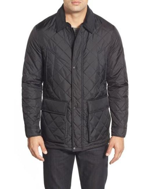 Cole Haan | Black Quilted Jacket for Men | Lyst