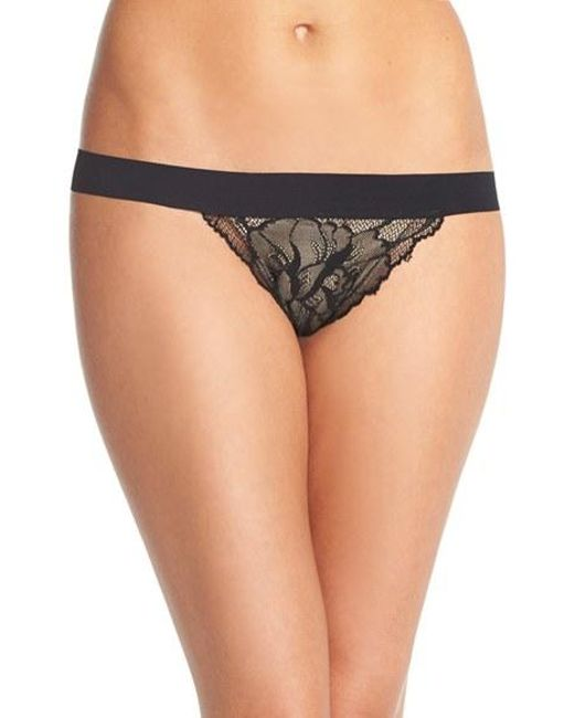 Commando | Black 'double Take' Lace G-string Thong | Lyst