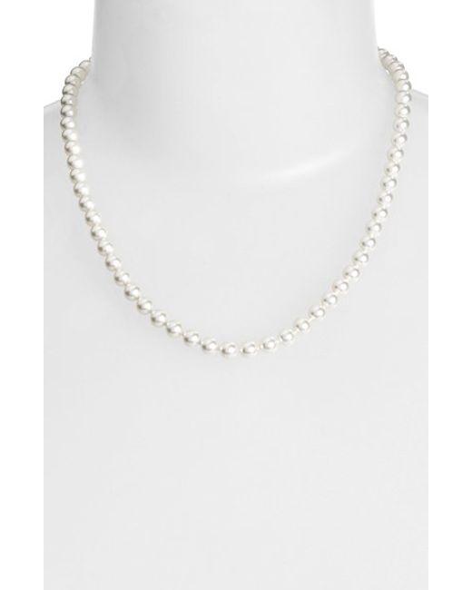 Nadri | White Imitation Pearl Collar Necklace | Lyst