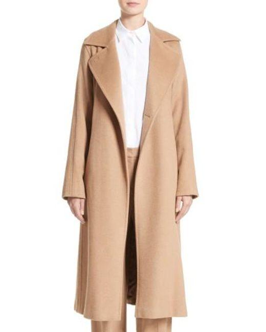 Max Mara   Black 'manuela' Camel Hair Coat   Lyst