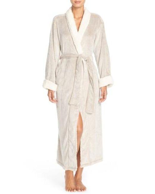 Natori | Natural Plush Velour Robe | Lyst
