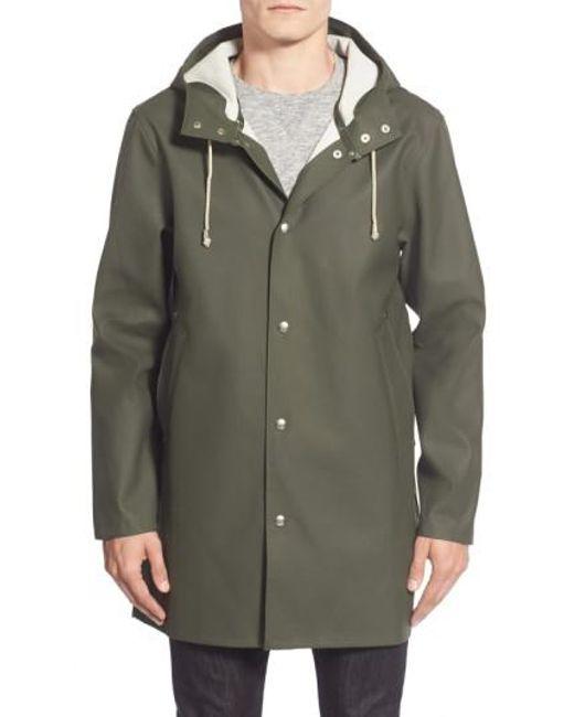 Stutterheim | Green Stockholm Waterproof Hooded Raincoat for Men | Lyst