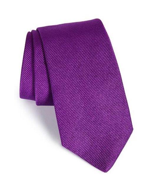 Gitman Brothers Vintage | Purple Solid Silk Tie for Men | Lyst