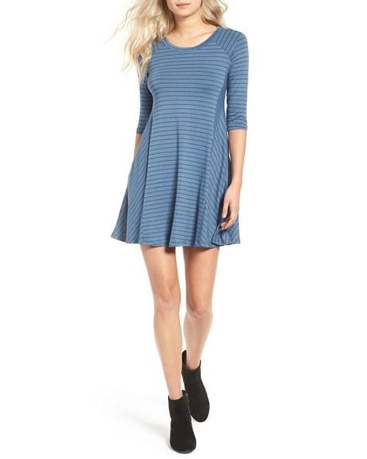 Lush | Blue Shift Dress | Lyst