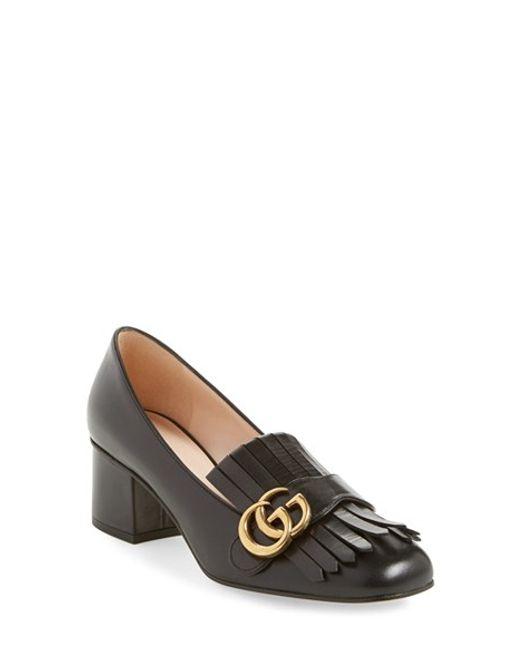Gucci | Black Marmont Pump | Lyst