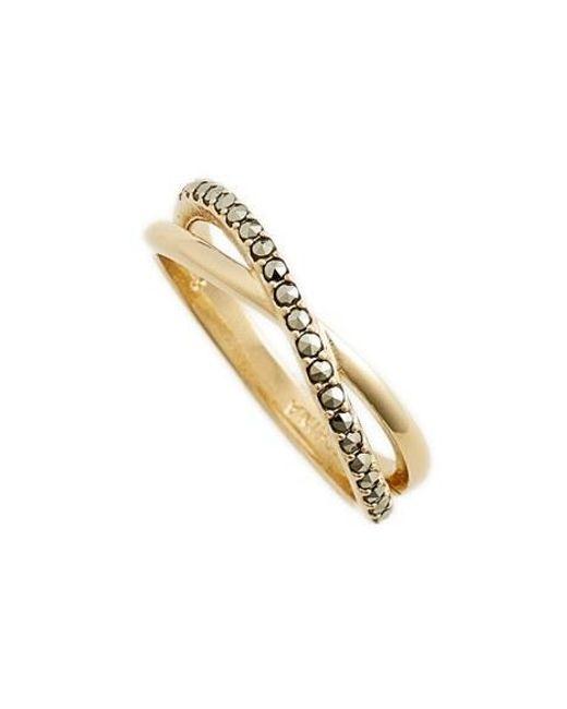 Judith Jack | Metallic Crisscross Ring | Lyst