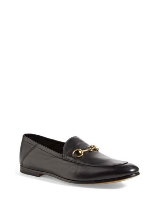Gucci   Black Brixton Leather Moccasins for Men   Lyst