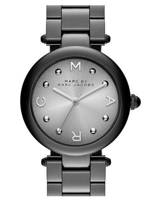 Marc By Marc Jacobs | Black Marc Jacobs 'dotty' Bracelet Watch | Lyst