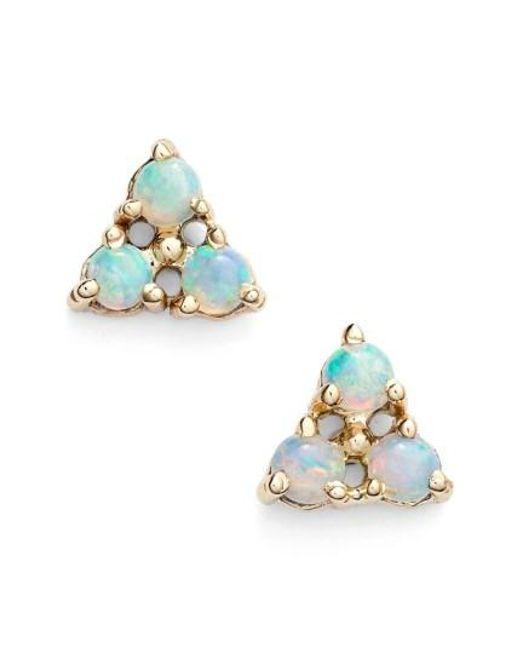 Wwake | Yellow Triangle Opal Earrings | Lyst