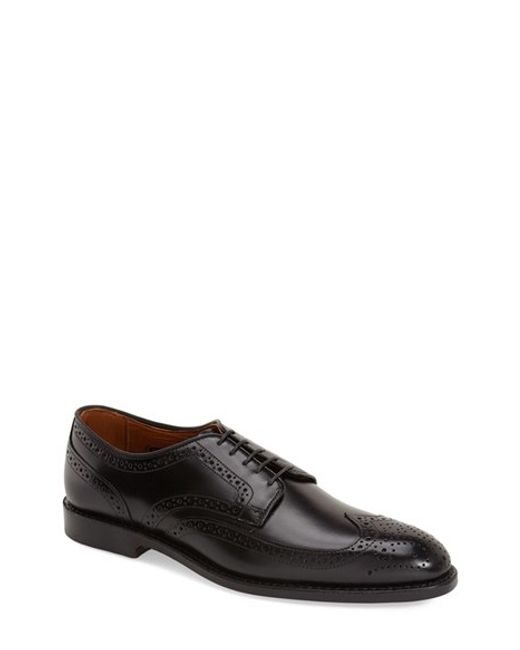 Allen Edmonds | Black Madison Park Leather Brogues  for Men | Lyst