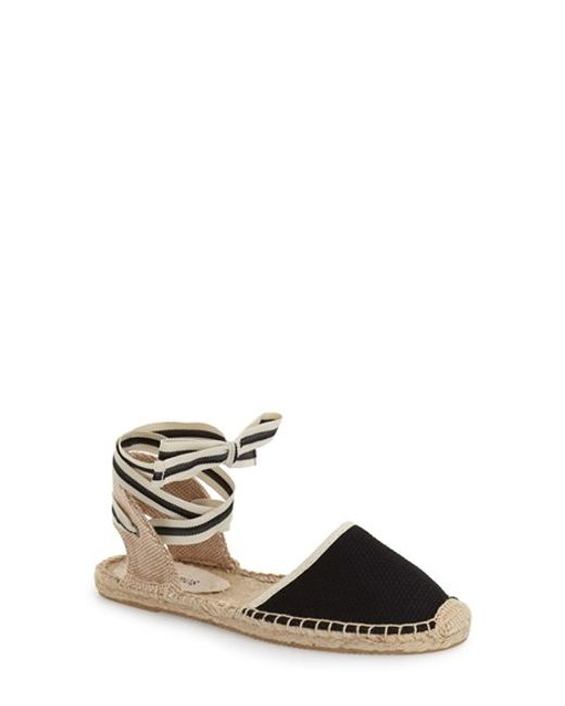 Soludos   Natural Classic Ankle Tie Espadrille Flats   Lyst
