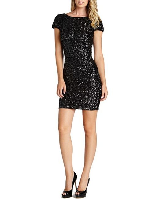 Dress the Population | Black Tabitha Sequin Minidress | Lyst