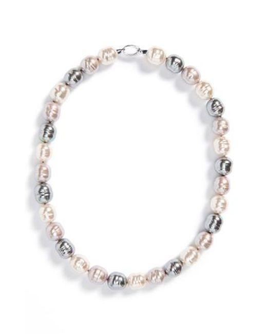 Majorica | Multicolor 14mm Baroque Pearl Necklace | Lyst