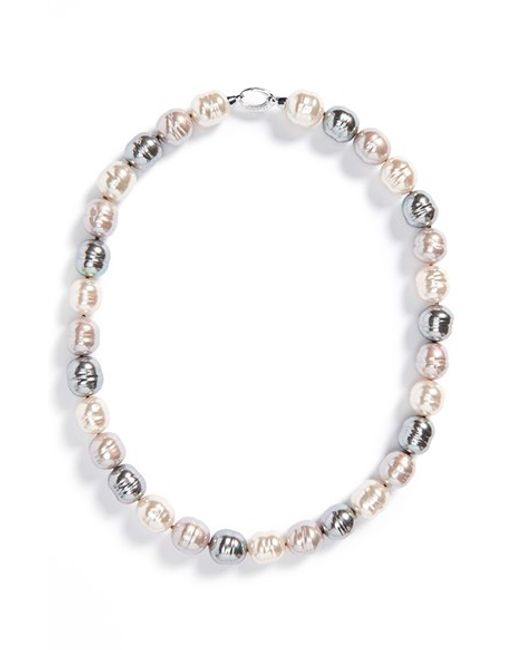 Majorica | Multicolor 14mm Baroque Pearl Necklace | Lyst