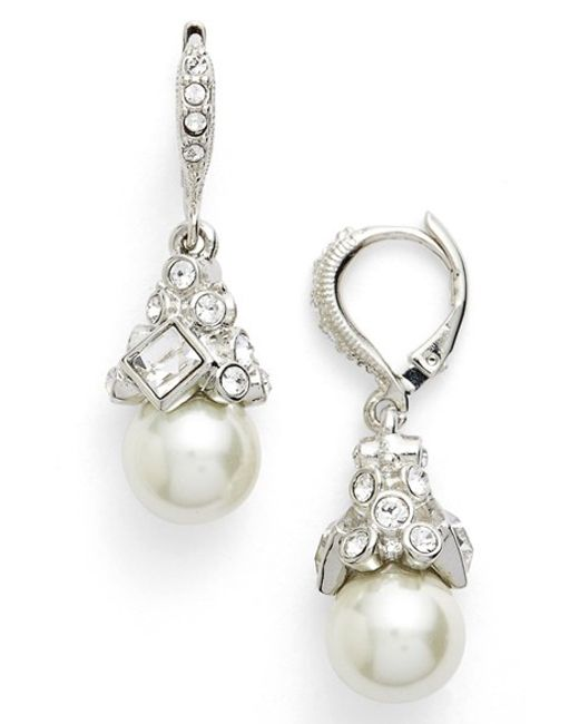 Givenchy | Metallic Imitation Pearl Drop Earrings | Lyst