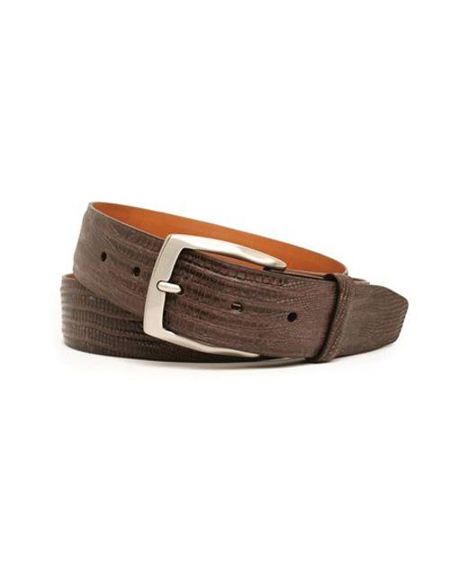 Trafalgar | Brown 'chadwick' Lizard Leather Belt for Men | Lyst