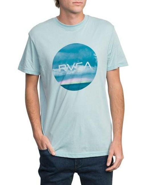 RVCA - Blue Horizon Motors T-shirt for Men - Lyst