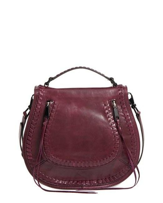 Rebecca Minkoff Vanity Leather Saddle Bag In Black Lyst