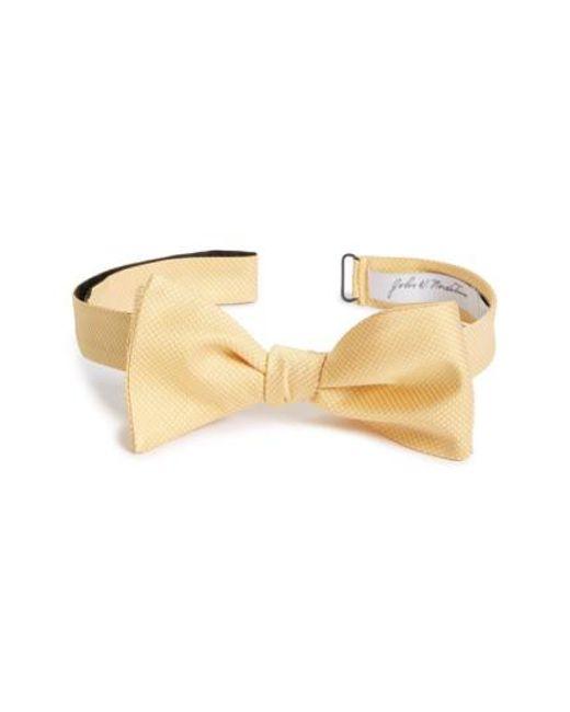 John W. Nordstrom | Yellow John W. Nordstrom Dot Silk Bow Tie for Men | Lyst