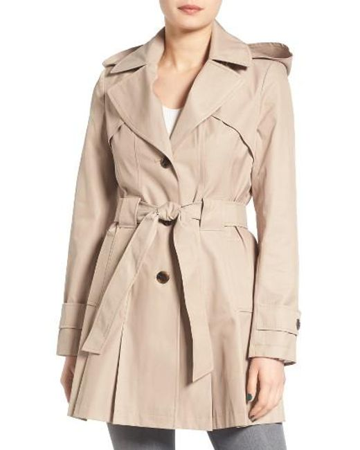 Via Spiga | Blue 'scarpa' Hooded Single Breasted Trench Coat | Lyst