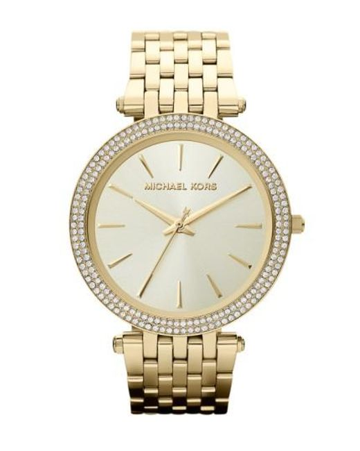Michael Kors | Metallic Michael Kors 'darci' Round Bracelet Watch | Lyst
