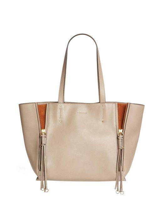 Chloé - Multicolor Medium Milo Calfskin Leather Tote - - Lyst