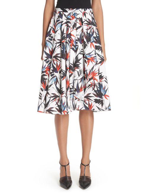 Jason Wu - Multicolor Bird Of Paradise Print Cotton Poplin Skirt - Lyst