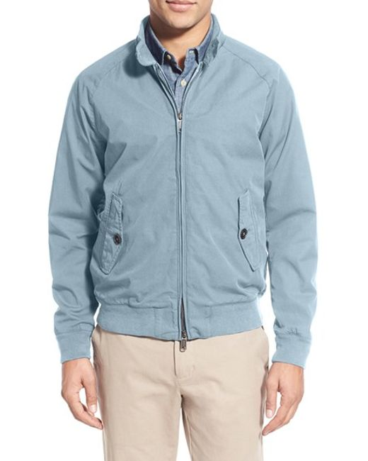 Baracuta G9 Garment Dyed Cotton Barracuda Jacket In Blue