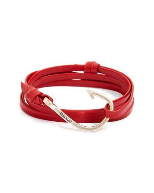 Miansai | Red Hook Leather Bracelet for Men | Lyst