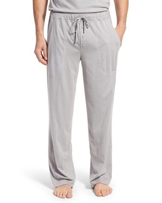 Daniel Buchler Peruvian Pima Cotton Lounge Pants In Gray