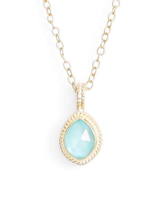 Anna beck 'shield' Semiprecious Stone Pendant Necklace in ...