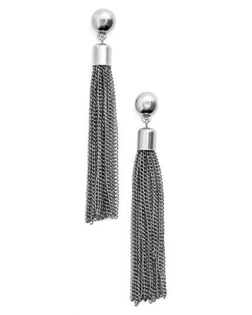 Karine Sultan   Metallic Tassel Drop Earrings   Lyst