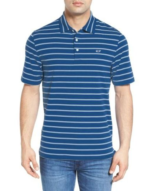 Vineyard Vines | Blue Stripe Jersey Golf Polo for Men | Lyst