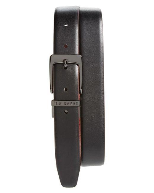 Ted Baker | Black 'lizlow' Reversible Leather Belt for Men | Lyst