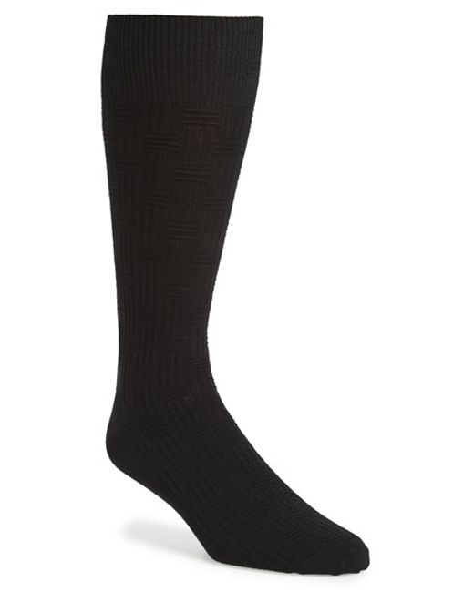Calibrate | Black 'basketweave' Socks for Men | Lyst